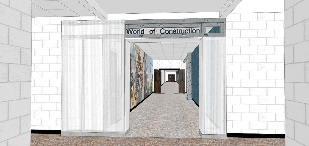 World of Construction renovation mock up 2